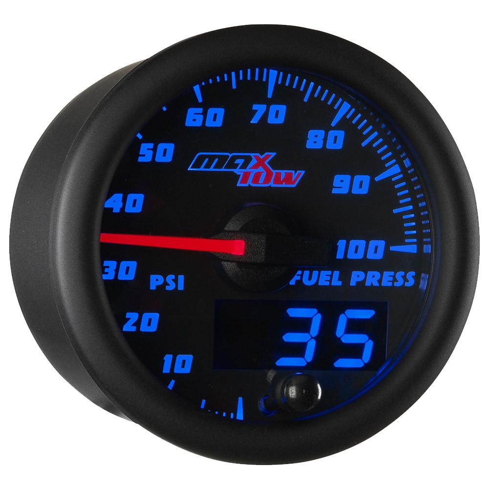 Blue MaxTow 100 PSI Fuel Pressure Gauge