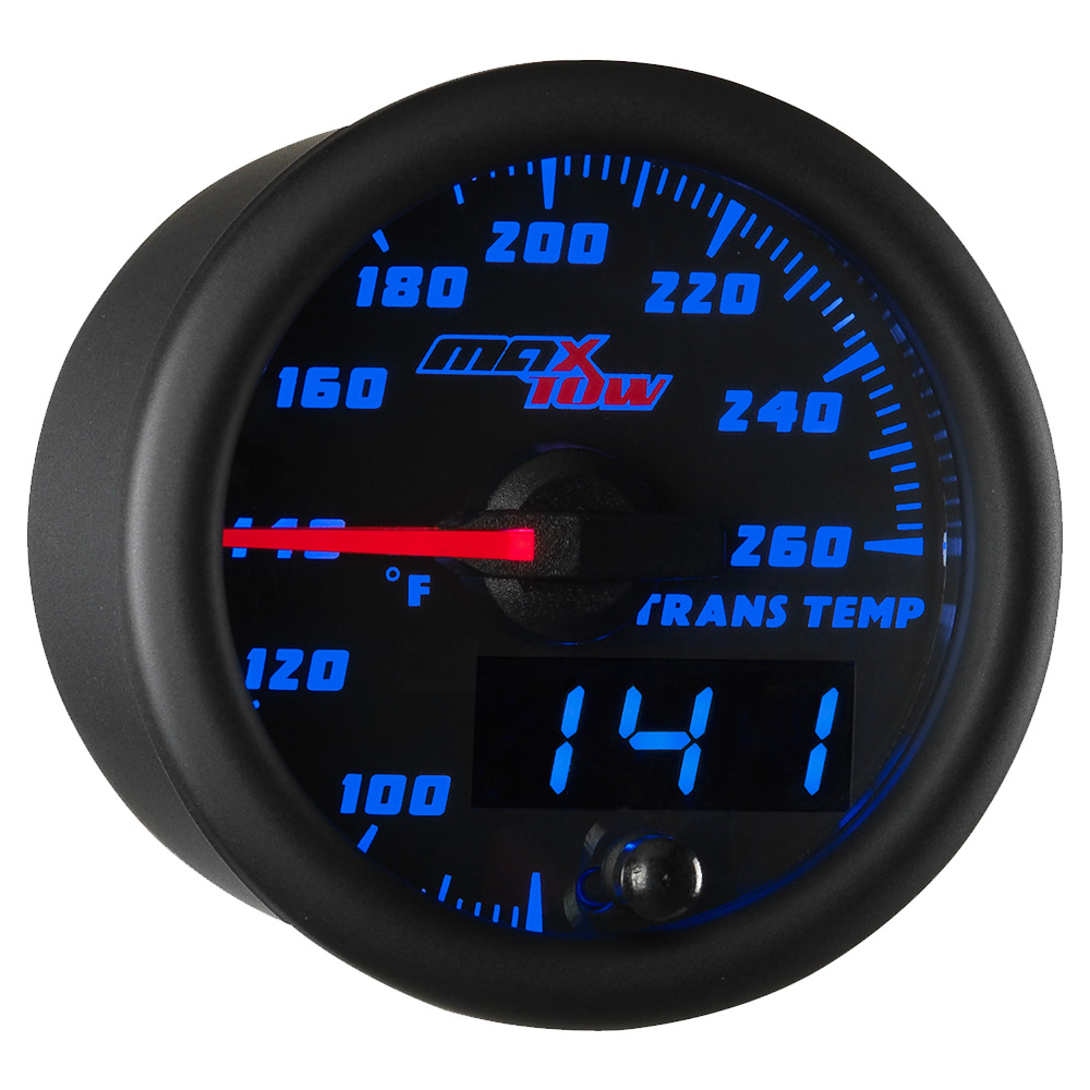 Blue MaxTow Transmission Temperature Gauge