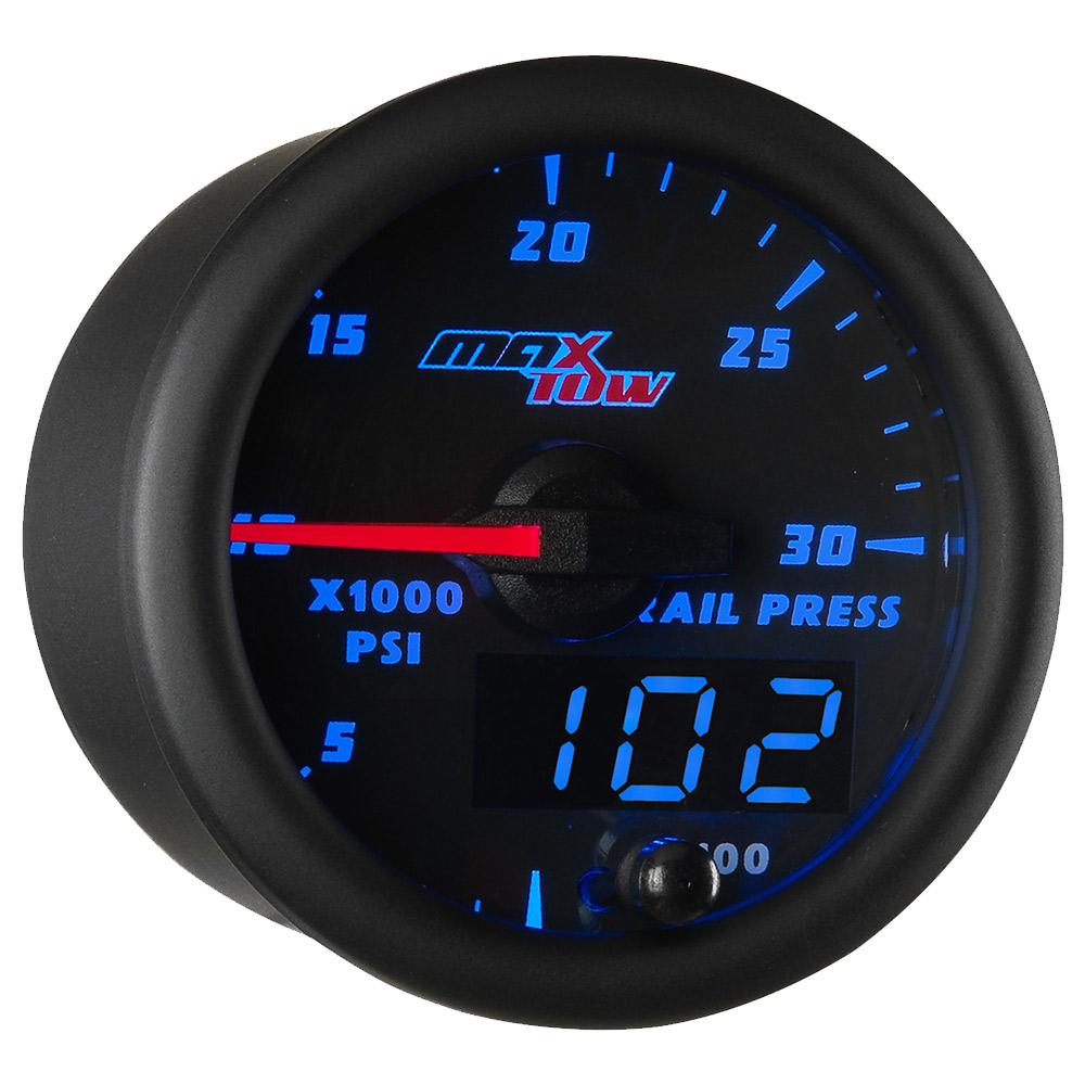Blue MaxTow 30,000 PSI Fuel Rail Pressure Gauge