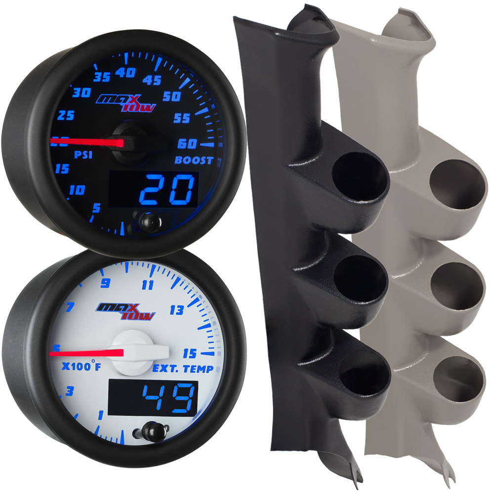 2008-2010 Ford Super Duty Power Stroke Blue MaxTow Custom Gauge Package
