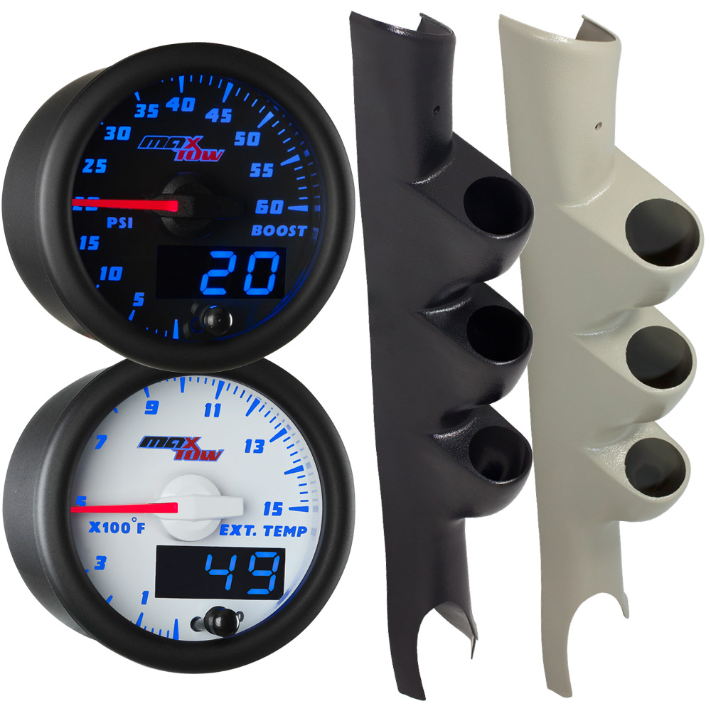 2003-2009 Dodge Ram Cummins Blue MaxTow Custom Gauge Package