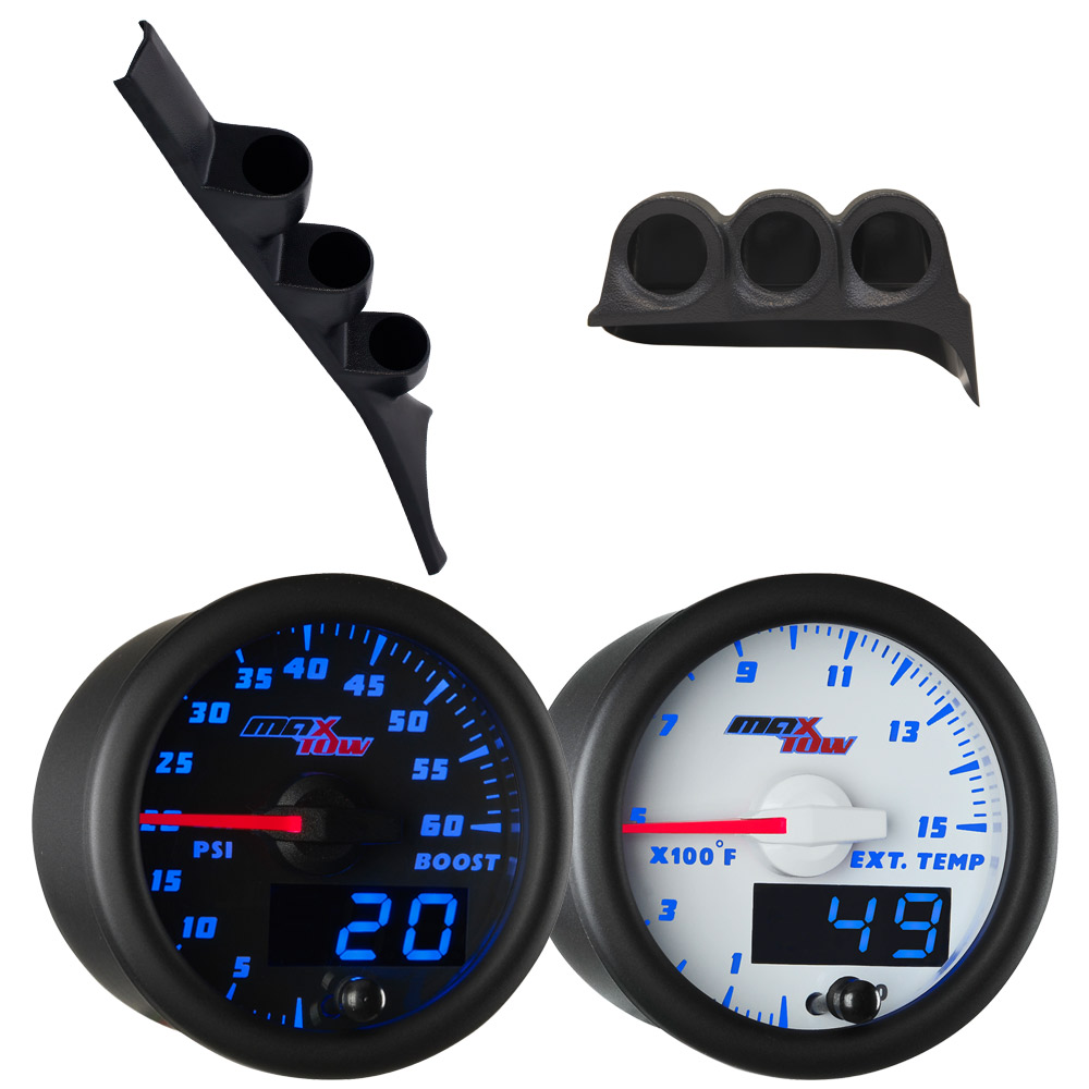 1986-1993 Dodge Ram First Gen Cummins Blue MaxTow Custom Gauge Package