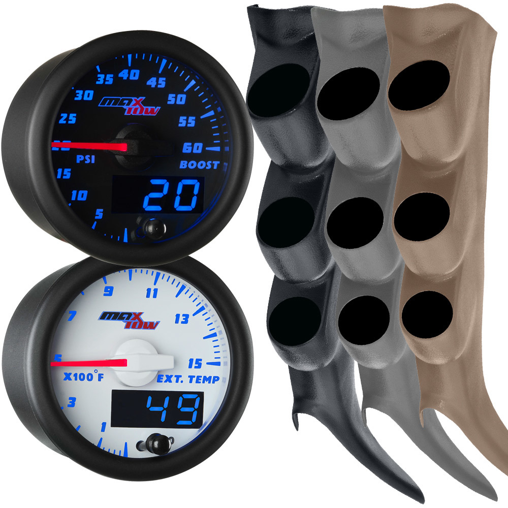 Blue MaxTow 2000-2006 GMC Sierra Duramax Gauge Package
