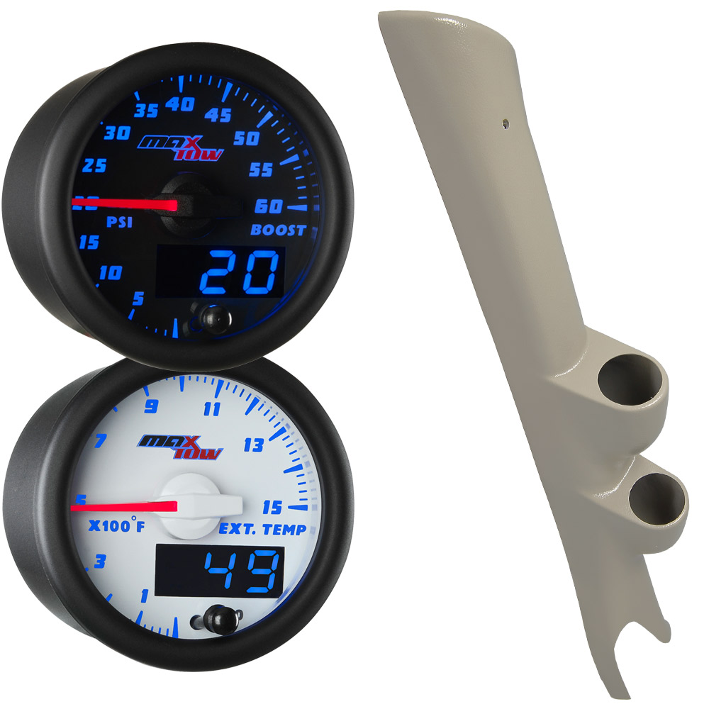 03-09 Dodge Ram Cummins Full Size Dual Blue MaxTow Custom Gauge Package