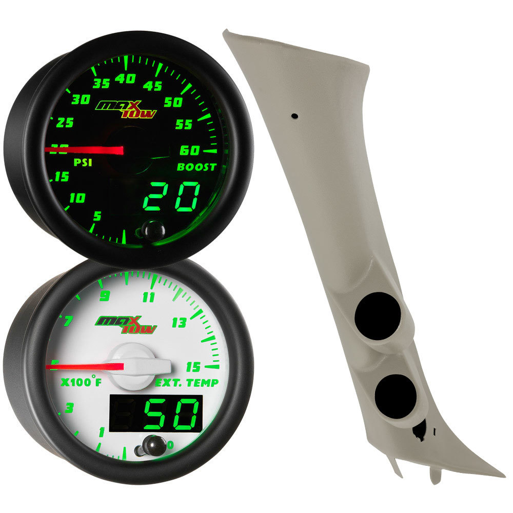 2007-2013 GMC Sierra Duramax Full Size Dual Green MaxTow Custom Gauge Package