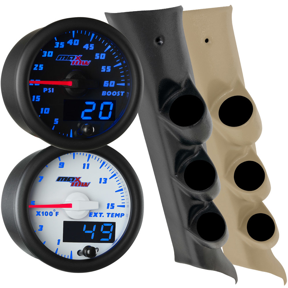 2014-2019 Chevrolet Silverado Duramax Blue MaxTow Custom Gauge Package Main