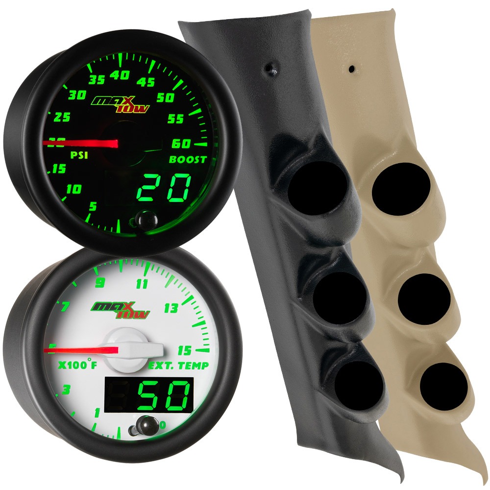 2014-2019 GMC Sierra Duramax Green MaxTow Custom Gauge Package Thumb