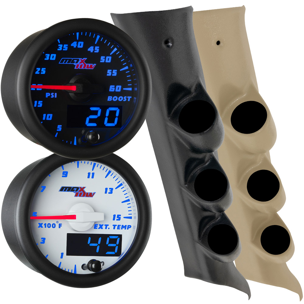 2014-2019 GMC Sierra Duramax Blue MaxTow Custom Gauge Package Thumb