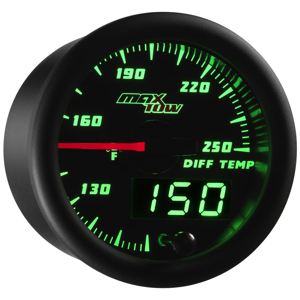 Black & Blue MaxTow Differential Temperature Gauge