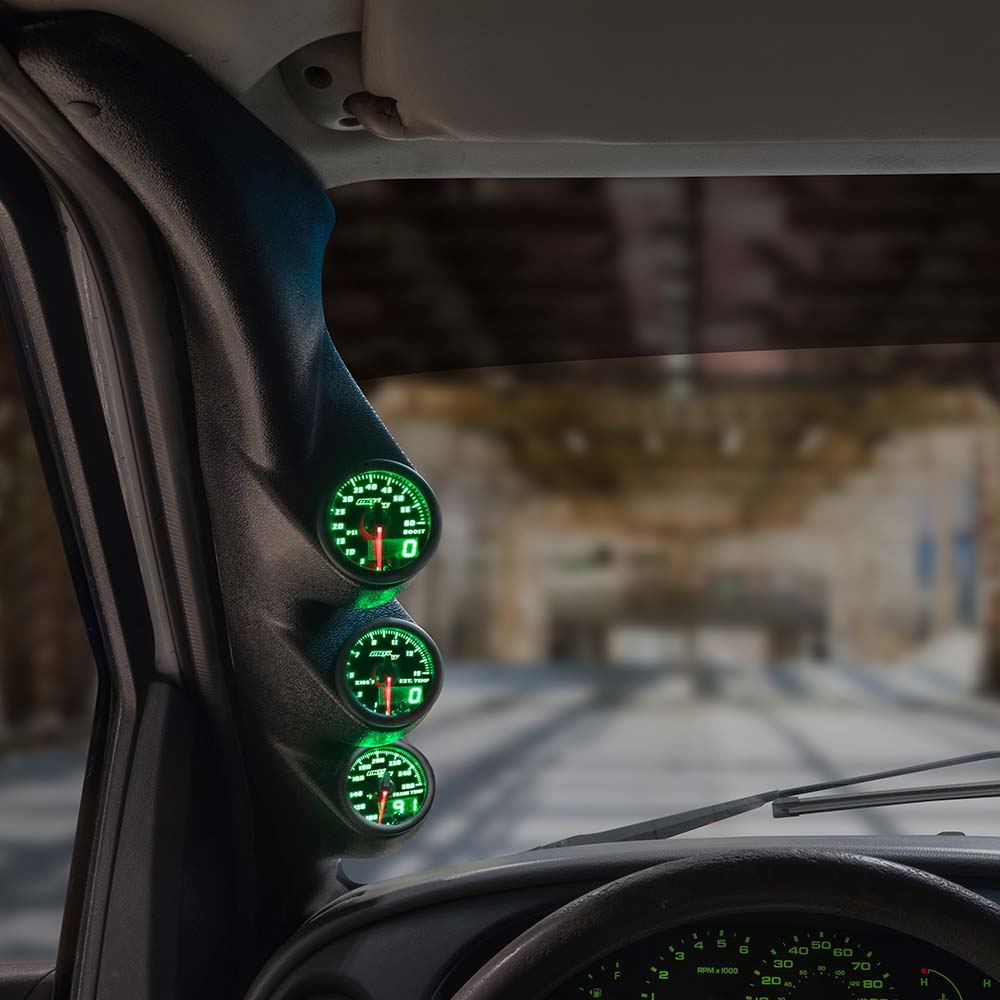 Green MaxTow Triple Gauge Package for 2003-2008 Ford E-Series Van