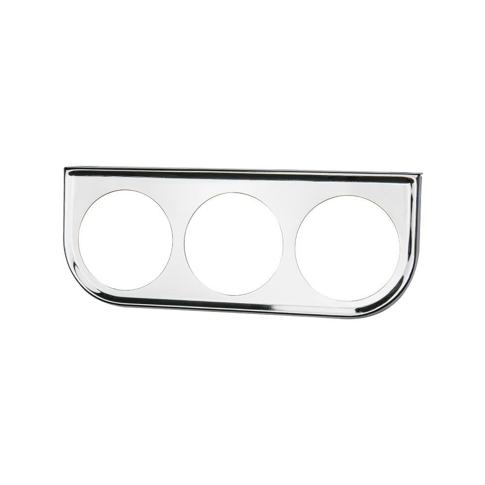 Universal Chrome Triple Gauge Under Dashboard Mounting Bracket Pod