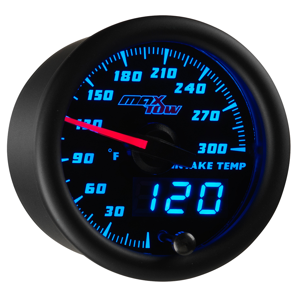 Black & Blue MaxTow Intake Temperature Gauge