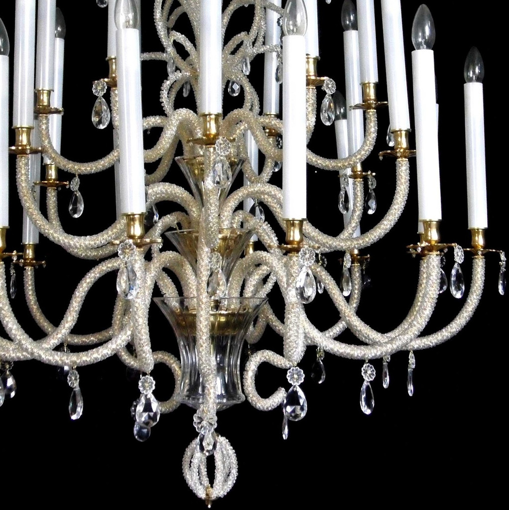 French Crystal Beads Chandelier