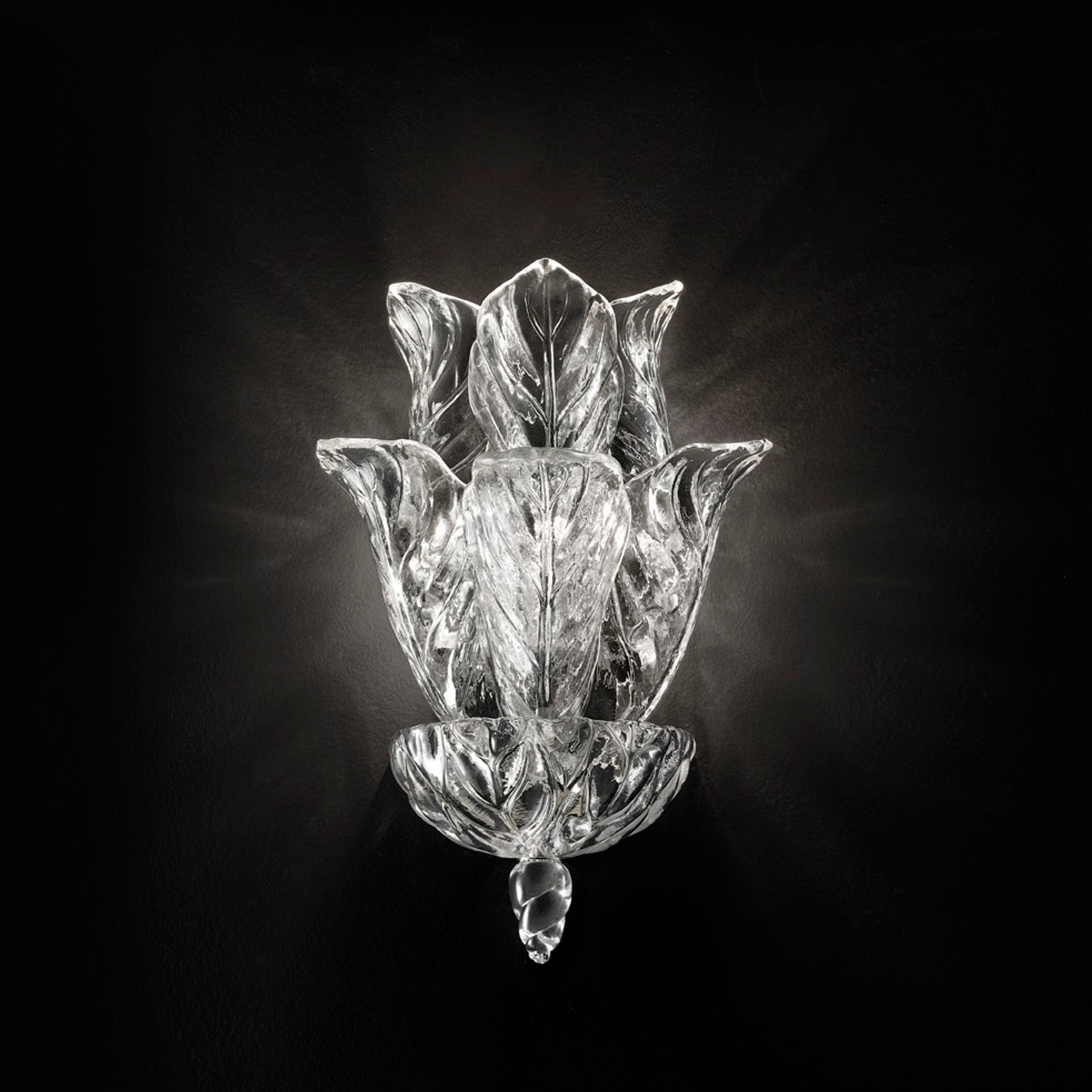 Glass Leaves Wall Sconce