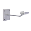 Sissone - Custom Barres Single Wall Mounted Ballet Barre Brackets - Open Saddle - SILVER