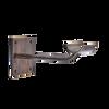 Sissone Ouverte - Custom Barres Single Wall Mounted Ballet Barre Bracket - Open Saddle - Antique Brass