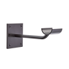 Sissone - Custom Barres Single Wall Mounted Ballet Barre Bracket - Open Saddle - Black