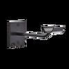 Sissone - Custom Barres Single Wall Mounted Ballet Barre Bracket - Open Saddle - Black - 2 Mounting Holes