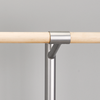 Closed Saddle - Barre is connected with 2 screws under the saddle