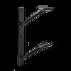 Custom Barres Doubler En Lair - Double Wall Mounted Ballet Bar Bracket - Black - Open Saddle