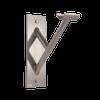 Cabriole Single - Single Wall Mounted Barre Bracket - Silver