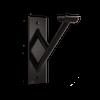"Custom Barres Cabriole Single - Single Wall Mounted Ballet Barre Bracket - Fits 1 5/8"" Diameter barre - Black"
