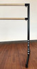 Arabesque Barre by Custom Barres - Black/Maple  - Logo - Used by Equinox