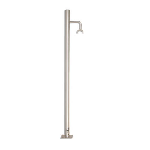 ATTITUDE - Custom Barres Floor Mounted Ballet Barre Bracket - SILVER - Open Saddle