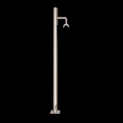 ATTITUDE - Custom Barres Floor Mounted Ballet Barre Bracket - SILVER - Open Saddle