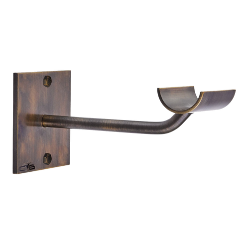 SISSONE OUVERTE  - Custom Barres Single Wall Mounted  Dance Bar Bracket - ANTIQUE BRASS - Ballet Barre Bracket
