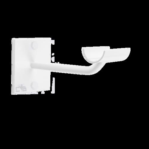 Sissone - Custom Barres Single Wall Mounted Ballet Barre Bracket - Open Saddle - White