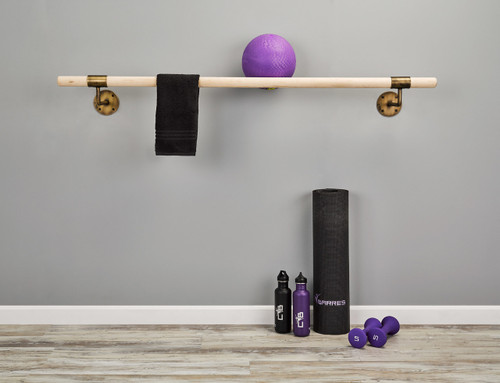 Custom Barres Antique Brass Ballet Barre Kit Designer Series