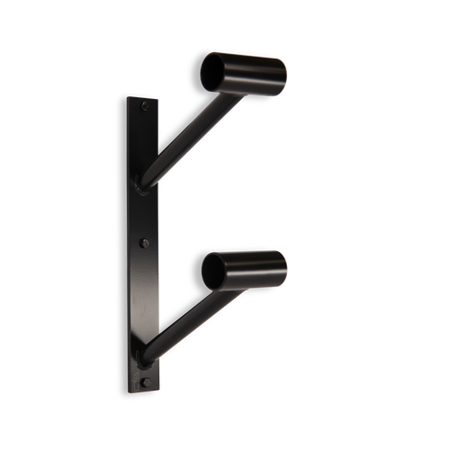 Custom Barres Doubler En Lair - Double Wall Mounted Ballet Barre Bracket - Black