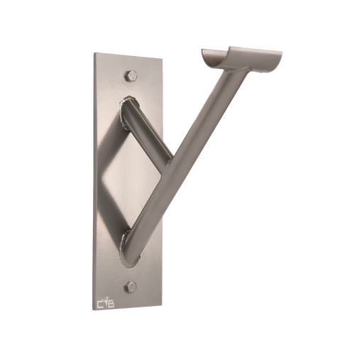 Cabriole Single - Single Wall Mounted Barre Bracket - Silver