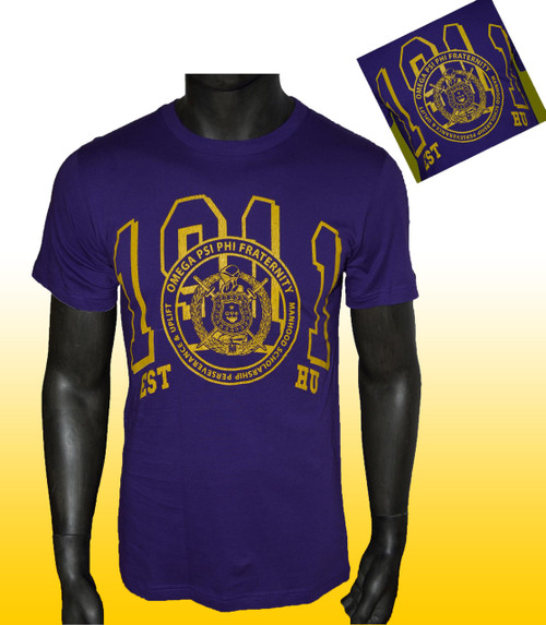 Sporting collegiate style imagery, our Omega Psi Phi  University Graphic Tee might inspire you to go back to home-coming or hang out at home. Either way, the soft cotton fabric will always keep you comfortable.