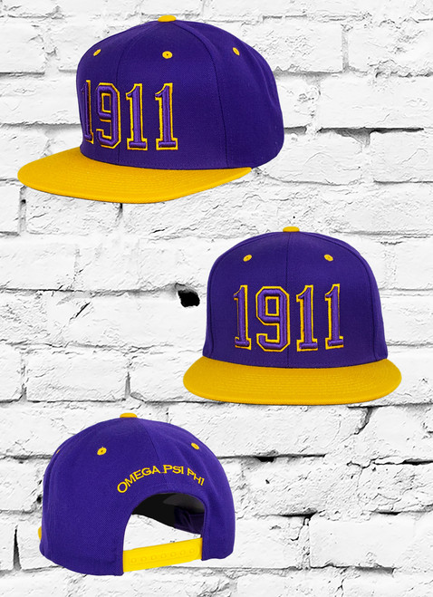 Support the ΩΨΦ fraternity with the Omega Psi Phi Official Sideline Snapback featuring an embroidered ΩΨΦ founding  year at the front with an embroidered Omega Psi Phi at the rear above an adjustable snapback closure.