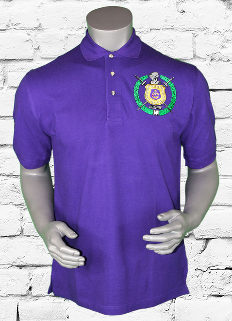 "An American style standard of excellence since 1911, this Polo shirt has been imitated but never matched. Over the years, Greek Kulture has reimagined Omega Psi Phi apparel in a wide array of colors and fits, yet all retain the quality and attention to detail of the iconic original. This relaxed version is finished with ""3"" embroidery—the  1911 typically worn by a polo team's strongest player."