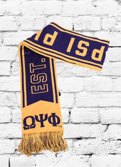 The Omega Psi Phi Scarf features double-layer construction to help you stay warm while at work or play and premium details that show off your passion for the ΩΨΦ fraternity.