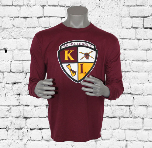 This Kappa League long-sleeve T-shirt makes you want to get up and cheer! The perfect fit and all-cotton fabric keep you comfortable through the cold season.