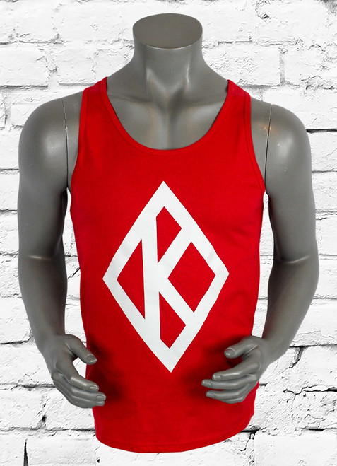 Red cotton Diamond K tank is perfect for the gym, beach, cookout etc. This Kappa Alpha Psi tank top is the perfect gift for any Nupe.