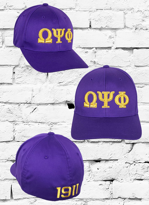 The Omega Psi Phi wooly combed FlexFit features a Wool fabrication throughout the cap and an 3D embroidered ΩΨΦ logo at the front panel with 1911 on the rear.