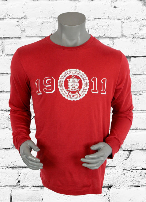 Our Long Sleeve ΚΑΨ Heritage Graphic Tee is so comfy, it's not even funny! The soft, stretchy fabric keeps you feeling great no matter what you're up to, while the screen printed design on the front promises a cool look.