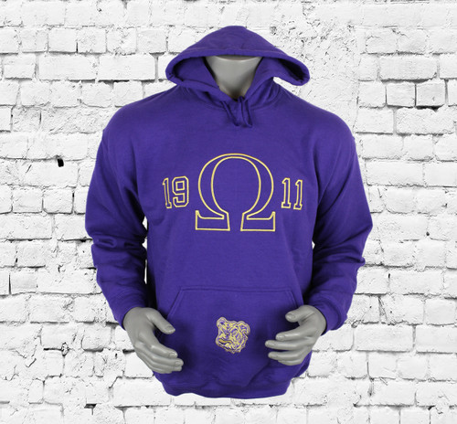 You'll be reaching for the  ΩΨΦ Rival Hoodie again and again. Its midweight cotton blend fleece is durable enough for everyday wear, and the soft, brushed interior traps warmth. Use the full kangaroo pocket to hold small items or warm your hands.