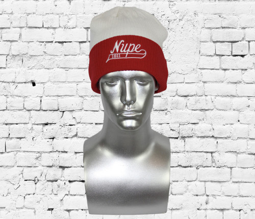 Nupe swoosh winter beanie with turn-up detail and embroidered on cuff.  This beanie will keep you warm thru the winter.