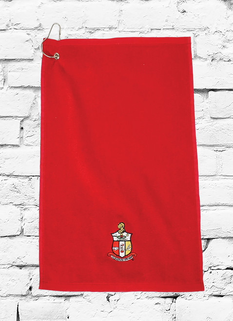 Incorporate Fraternity spirit into your golf game with the Kappa Alpha Psi Embroidered Towel. Enjoy the functionality while you show off your ΚΑΨ pride with embroidered fraternity shield. Let everyone know you're a Nupe when you carry Kappa Alpha Psi® Embroidered Towel.