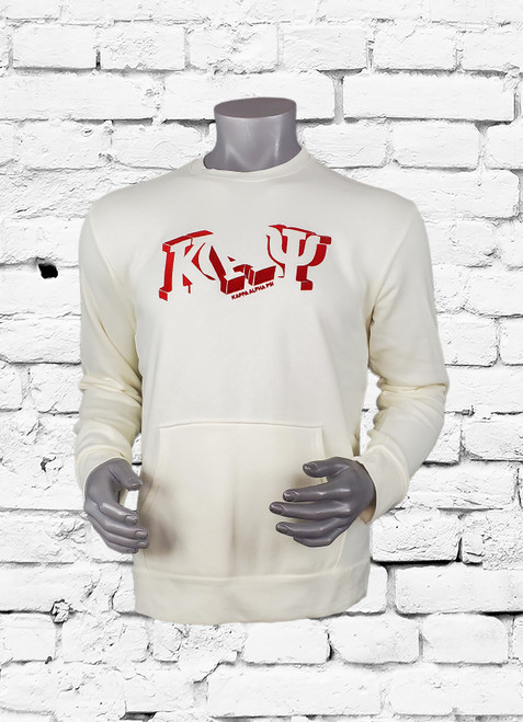 This ΚΑΨ sweatshirt delivers an iconic design inspired. This crew neck pull over with kangaroo pockets is perfect for the gym or the casual evening out on the town.