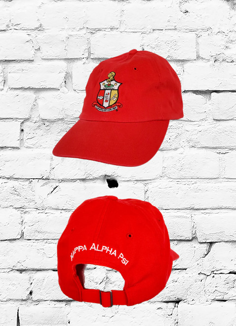 This Kappa Alpha Psi classic dad cap is embroidered with ΚΑΨ Coat of Arms on front panel and Kappa Alpha Psi on rear. This cap is a staple for all Nupes...
