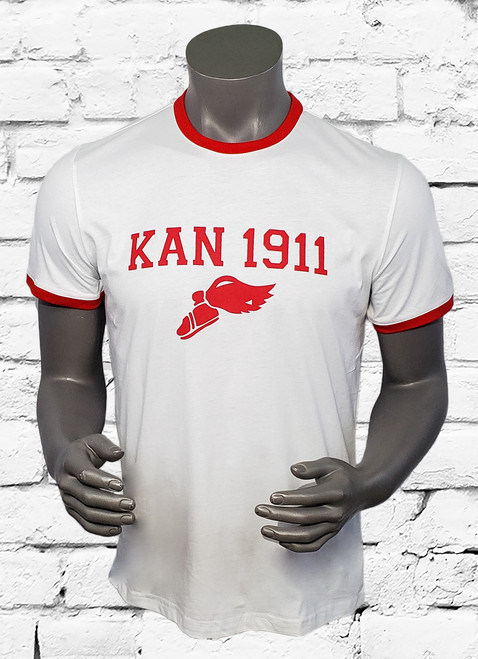 KAN 1911 ΚΑΨ® crew-neck T-shirt features an Athletic logo graphic at the front, plus contrast trim at the neck and cuffs for a look that really pops.