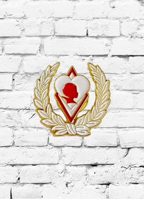 Kappa Alpha Psi Silhouette lapel pin. 1 inch soft enamel color filled lapel pin.