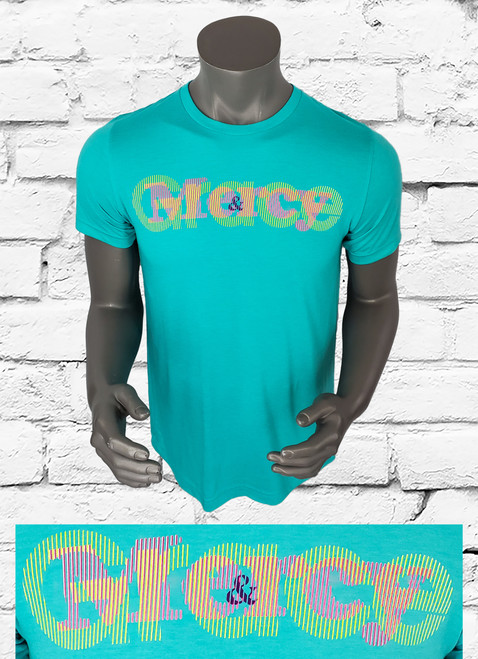 Grace & Mercy t-shirt is a bold multi color design that lets the world know why we are all still here.